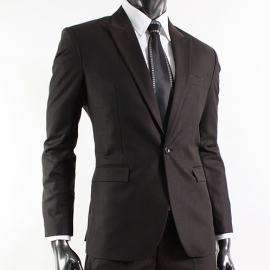 Completo uomo matrimonio giacca pantalone marrone XXL