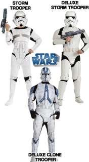 Mens Star Wars Storm Clone Trooper Fancy Dress Costumes