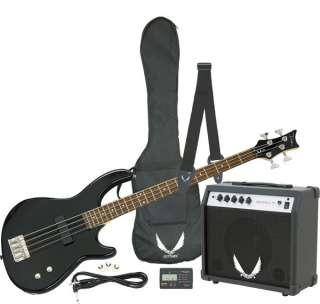 Dean Edge 09 Black Electric Bass Guitar Package w/ Amp, Bag, Strap