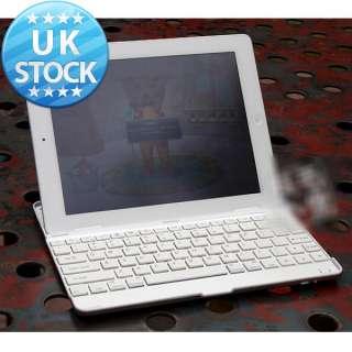 White Aluminum Metal Bluetooth Wireless Slim Keyboard Dock Case for