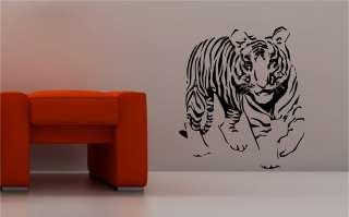 STUNNING TIGER wall art sticker vinyl BEDROOM LOUNGE animal kids
