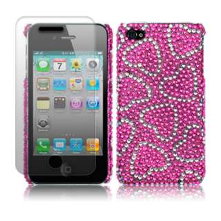 London Magic Store   Love Hearts Diamante Case Cover For iPhone 4S 4 S