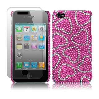 London Magic Store   Love Hearts Diamante Case Cover For iPhone 4S 4 S