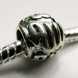 Sterling Silver Spacer Charm .925 Choose Style 4.5mm Hole Bead Fit
