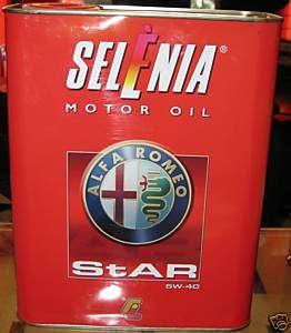 Olio Motore Selenia Star PE 5W40 Ufficiale Alfa Romeo