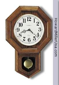 620 112 Howard Miller octagon shape Wall Clock quartz cherry finish