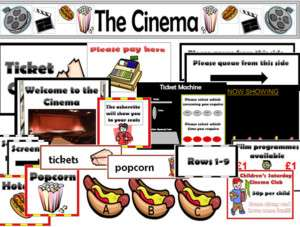 CINEMA ROLE PLAY TEACHING RESOURCES EYFS KS1