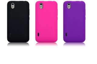 Funda Silicona LG OPTIMUS BLACK p970 color LILA MORADO