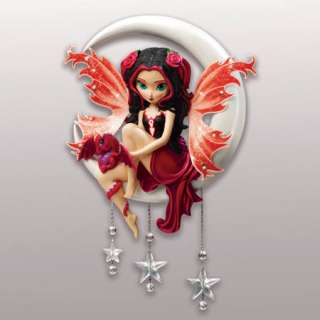 Ruby Fairy and Dragon Wall Sculpture Jasmine Becket