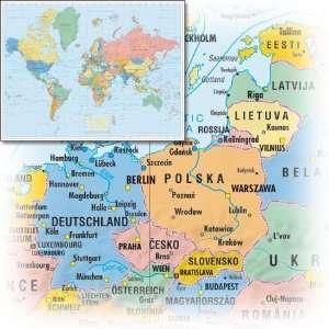 Business World. Die Welt. Weltkarte 1 : 20 000 000. Poster  Karte XXL