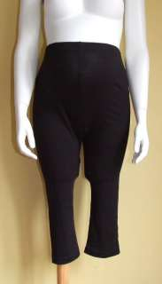 are bidding on these H&M MAMA Maternity Black Cropped Leggings Size M