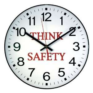 La Crosse 12 in. Message Wall Clock   Think Safety:  Home