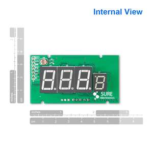 Blue Car Digital Thermometer Temperature Meter in&out