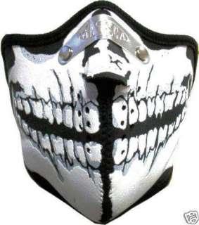 Bikermaske Totenkopf Skull Pollenfilter Neopren Maske