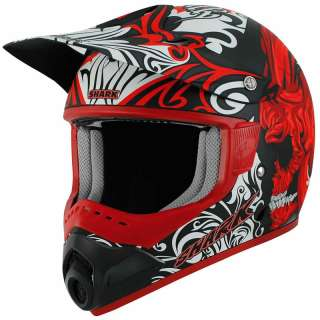 SHARK SX1 SKULLY MAT MX ENDURO DIRT BIKE OFF ROAD MOTO X MOTOCROSS