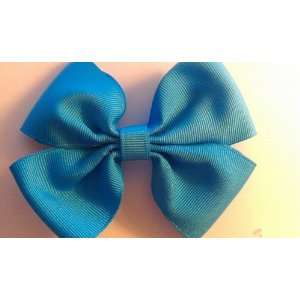 Light Blue Little Girls 3 Inch Double Boutique Bow   On