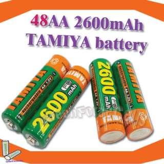 48 AA 2600mAh 1.2 V Ni MH Rechargeable TAMIYA battery