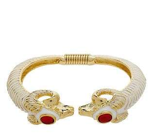 KJL Ravishing Ram Bangle Bracelet   QVC
