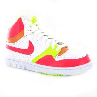 Nike Court Force High White Pink Womens Trainers