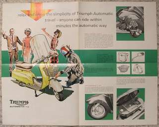 TRIUMPH AUTOMATIC T10 Scooter Brochure 1966 #51/66