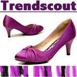 GLORIA++ Plateau High Heels Stiefeletten Stiefel Boots Schuhe Fell