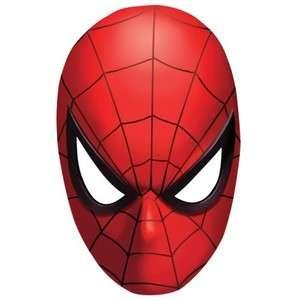 CARNEVALE accessori MASCHERA SPIDER MAN uomo ragno 6pz PARTY