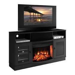 Real Flame Hudson Electric Fireplace in Espresso  Wayfair