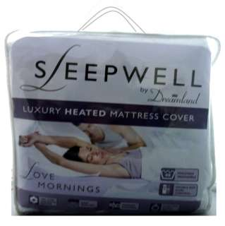 SLEEPWELL LUXURY HEATED MATTRESS COVER ELECTRIC BLANKET COTTON QUILTED