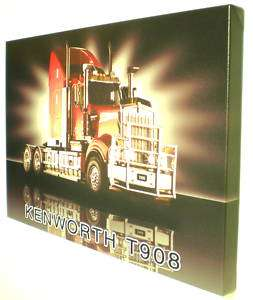 KENWORTH TRUCK CANVAS ART PRINT 41 x 61cm Framed