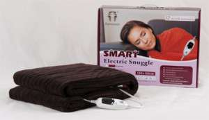 Electric Heated Throw Rug/Snuggle Blanket  Chocolate