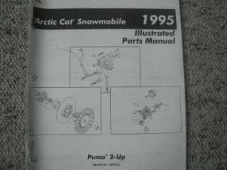 1995 Arctic Cat Snowmobile Parts Manual Puma 2 Up