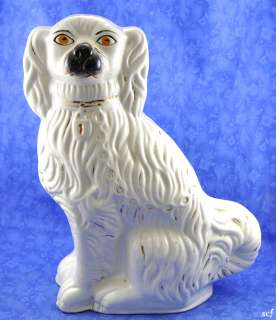 Antique Staffordshire King Charles Spaniel Figurine