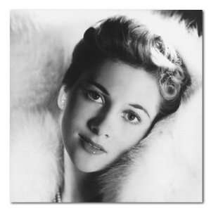 Joan Fontaine B&W Gallery Wrapped Box Canvas Print  Home