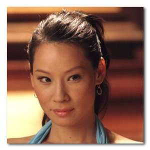 Lucy Liu Color Box Canvas Print   Gallery Wrapped   (12x12