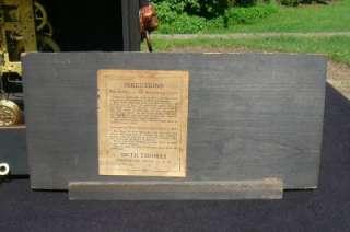 Antique Seth Thomas 6 Pillar Black Green Adamantine Shelf Mantle Clock