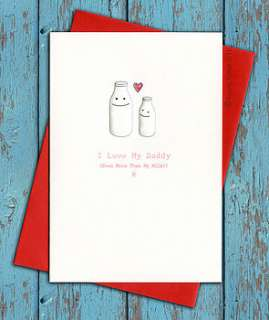 personalised birthday card for daddy or mummy by little brown rabbit