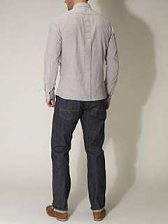 Linea Daltrey selvedge stripe long sleeved shirt Grey   House of