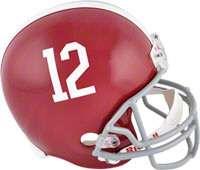 Unsigned Helmet  Details Alabama Crimson Tide, Throwback Pro Helmet