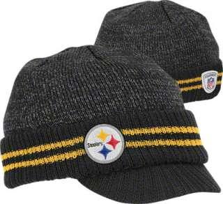 Pittsburgh Steelers Visor Knit Hat 2011 Player Sideline 2nd Season