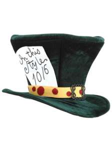 Alice in Wonderland Costumes Alice Accessories Mad Hatter Adult Hat