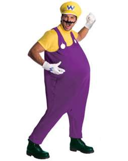 Mens Deluxe Super Mario Wario Costume  Mens TV & Movie Halloween