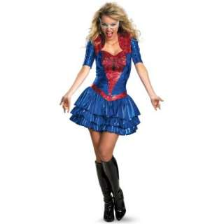 Halloween Costumes Spider   Girl Sexy Deluxe Plus Adult Costume
