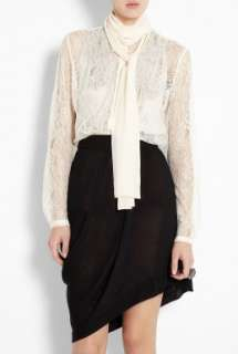 By Malene Birger  Lova Lace Blouse With Silk Scarf by By Malene