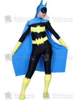 Blue And Black Female Batman Lycra Spandex Super Hero Catsuit