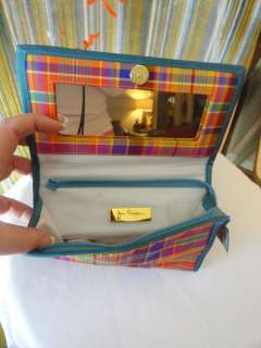 Souvenir JIM THOMPSON BANGKOK THAI SILK Plaid Cosmetic Bag #2