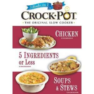 Crockpot The Original Slow Cooker (3 Books in 1) [Plastic