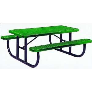 9201 PVC Steel Picnic Table, 8 ft. Long Patio, Lawn & Garden