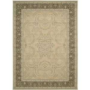 Persian Empire PE25 Rectangle Rug, 7.9 Feet by 10.10 Feet, Sand