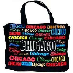 Chicago Tote Bag   Canvas Color, Chicago Tote Bags