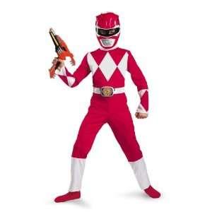 Power Rangers   Red Ranger Child Costume Size 7 8 Medium Toys & Games